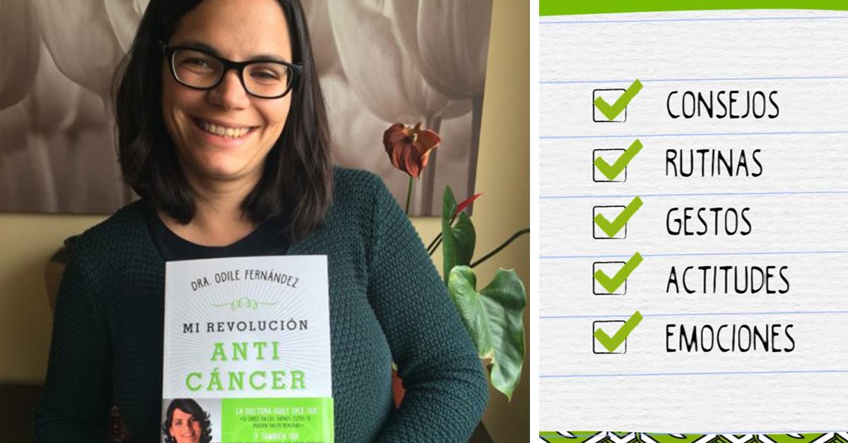 'Mi revolución anticáncer', el libro de Odile Fernández para alcanzar lo imposible