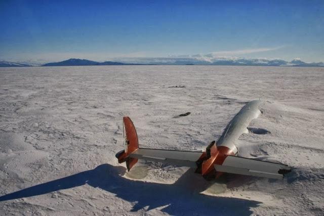 los restos de pegasus en mcmurdo sound, antártica