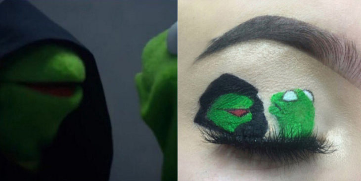 meme hecho con maquillaje