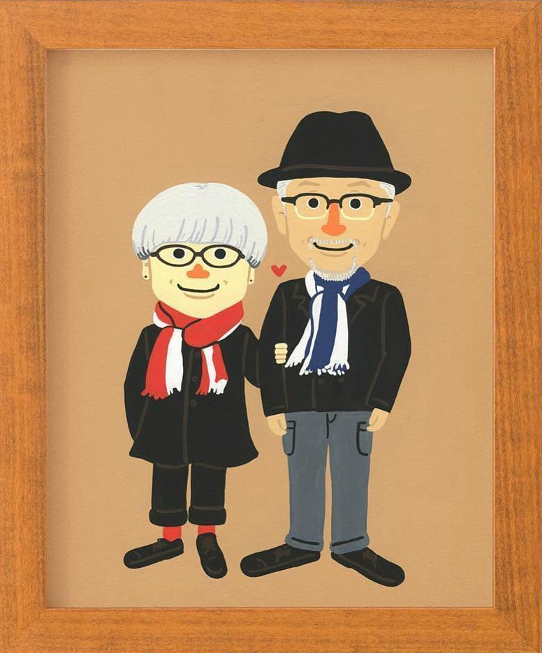 pareja japonesa 37 años dibujo
