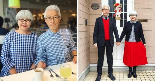 Pareja japonesa ha coordinado su vestuario por más de 37 años