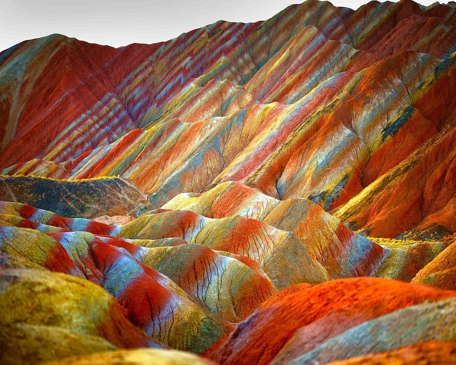 parque geológico de zhangye, china