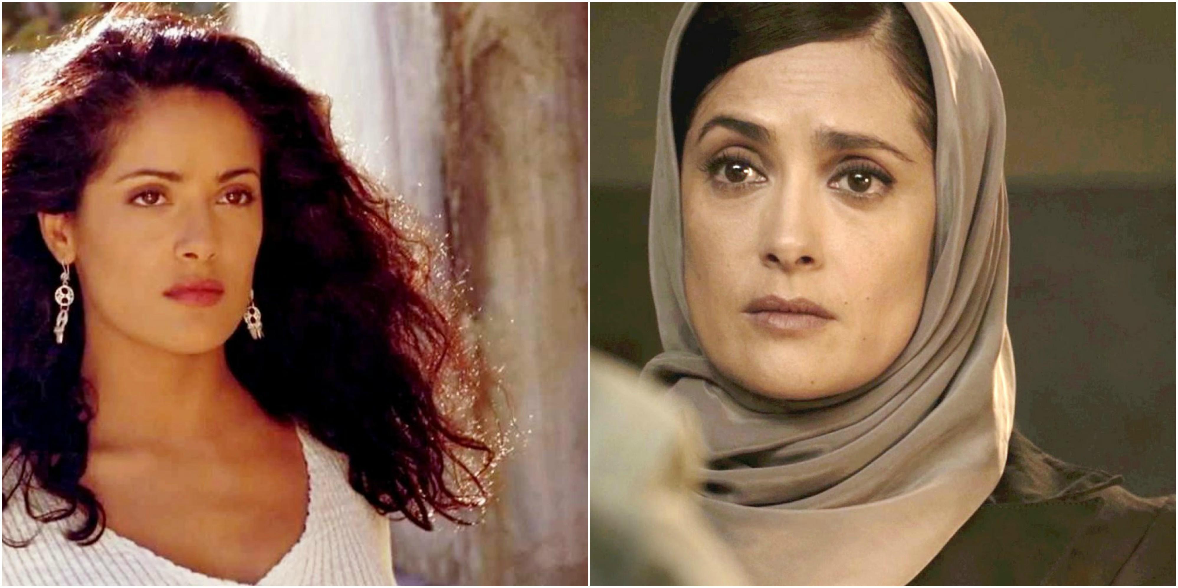 salma hayek antes y después pelis