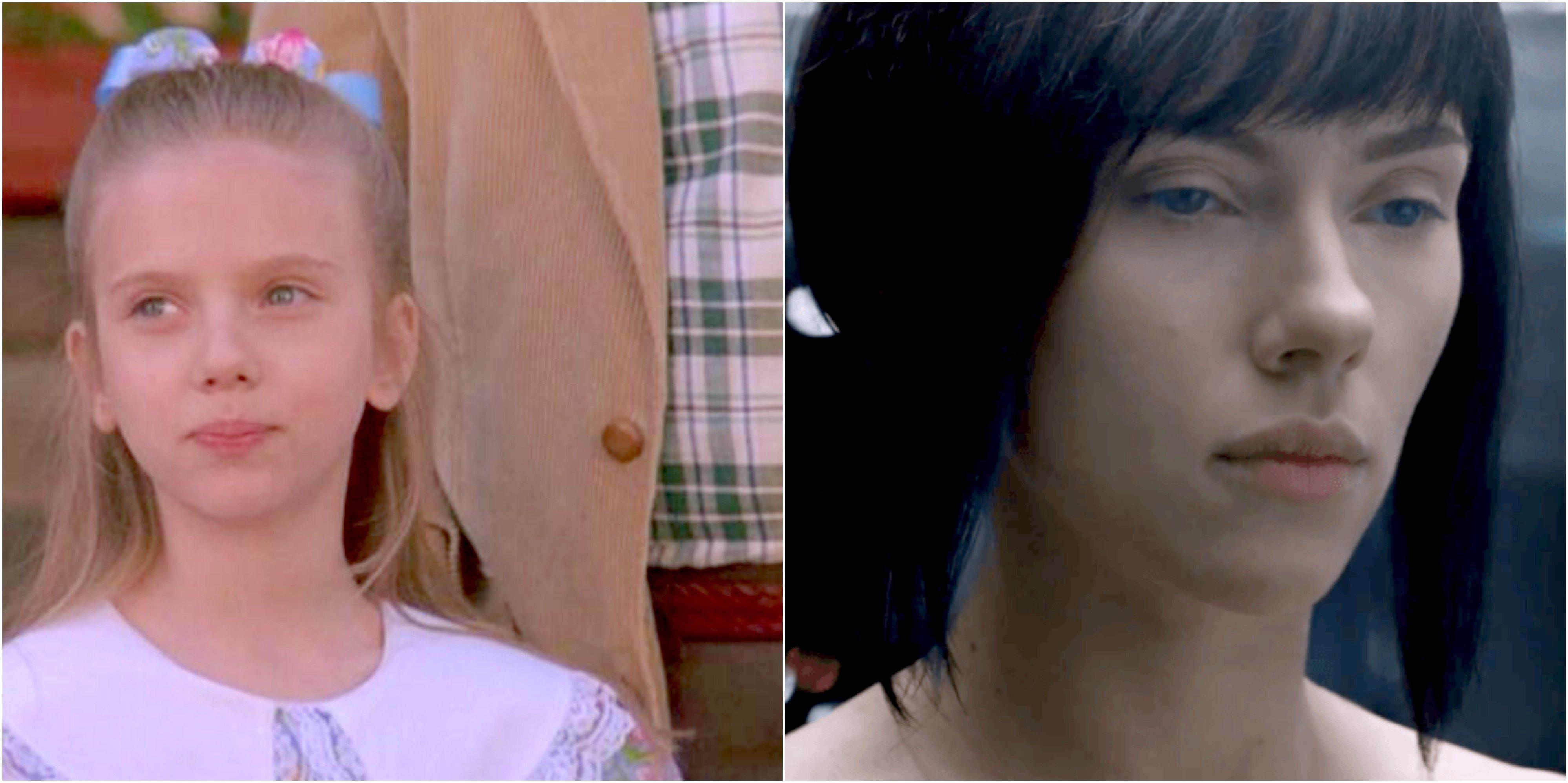 scarlett johansson antes y después pelis