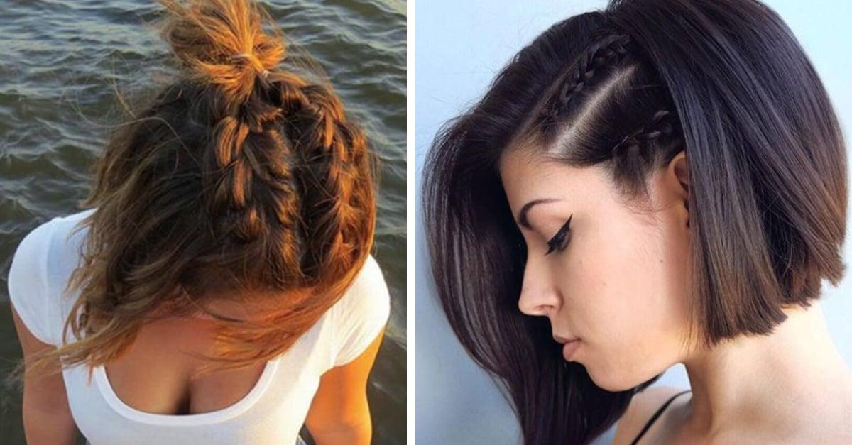 8 fabulosas trenzas para cabello corto