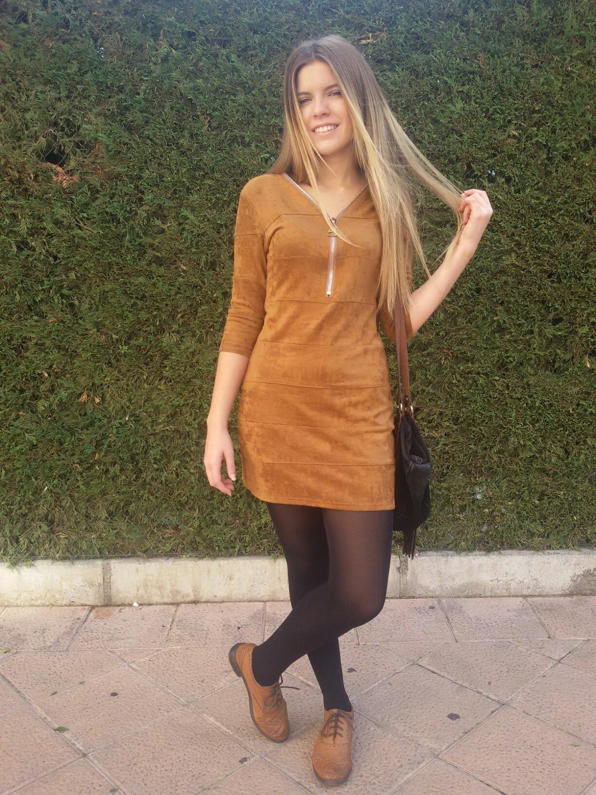 vestido café