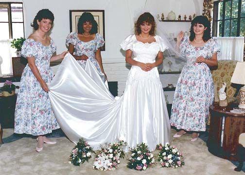 Vestidos de novias de los 80's y 90's