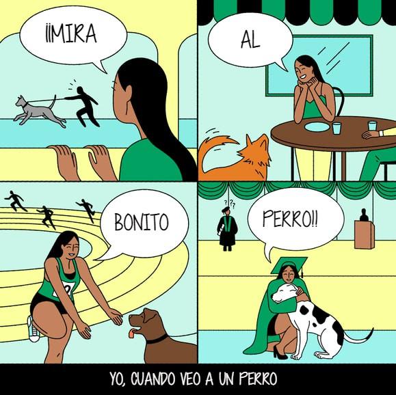yo cuando veo a un perro
