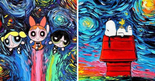 20 Iconos de la cultura pop con alma de Van Gogh