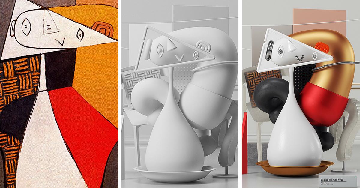 6 Emblemáticas obras de Picasso recreadas en 3D