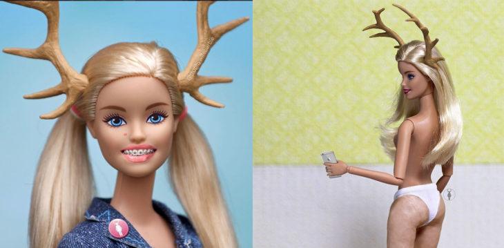 Barbie con brakets y con celulitis