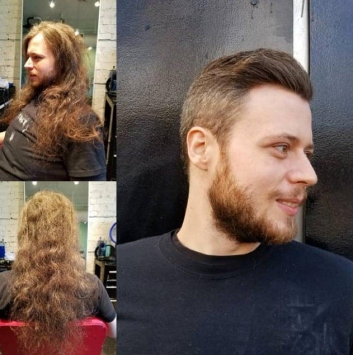 Pelo largo o corto en los hombres