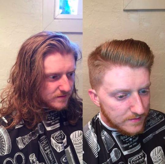 cabello bien cortado