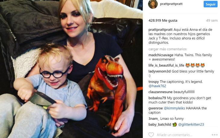 Publicaciones de Chris Pratt sobre su familia