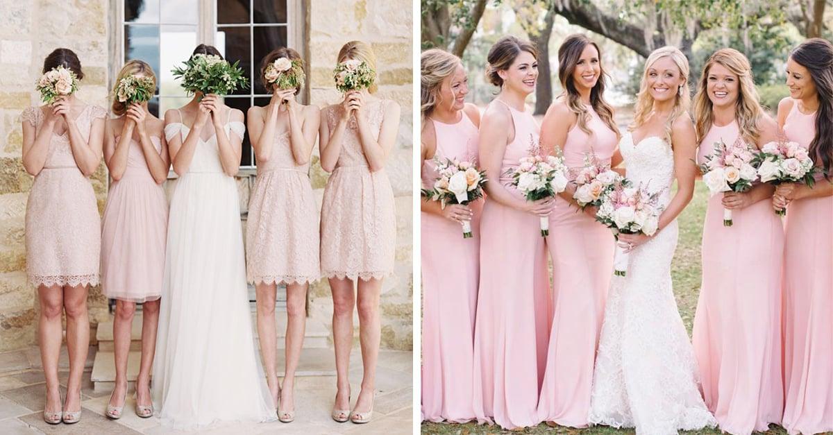 cac1806f76 El dusty Rose es el color que tus damas de honor deben llevar a tu boda