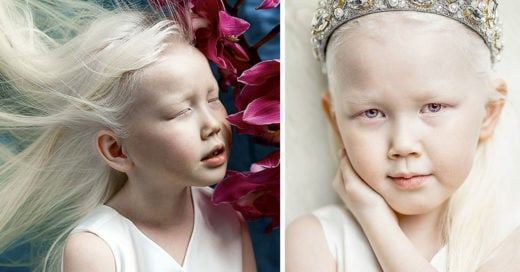 Ella es Nariyana, la niña albina más hermosa de Siberia