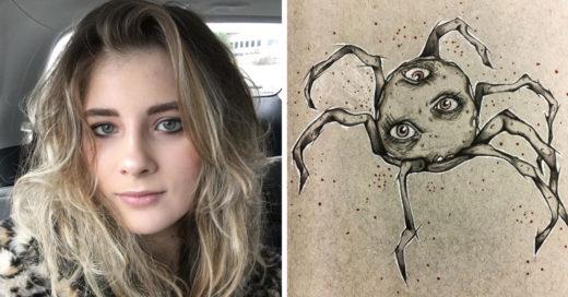 Esta artista revela con dibujos como luce la esquizofrenia
