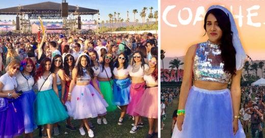 Esta novia tuvo una su despedida de soltera en Coachella