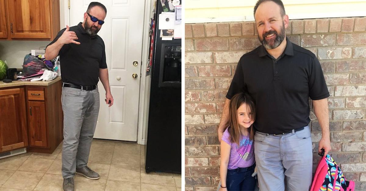 Este papá recogió a su hija con los pantalones mojados, y su razón es increíble