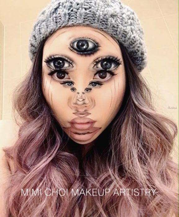 Maquillaje ilusión óptica