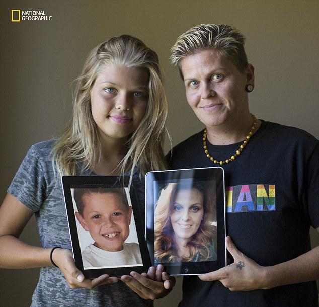 Madre e hija transgénero