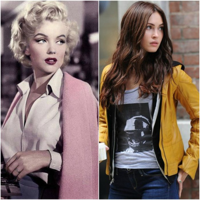 Marilyn Monroe y Megan Fox