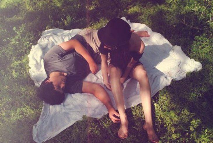 pareja de picnic