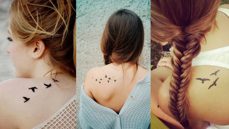 Chicas con tatuajes de aves