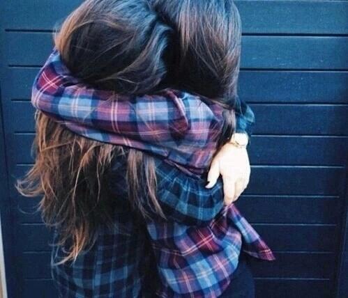 amigas abrazo