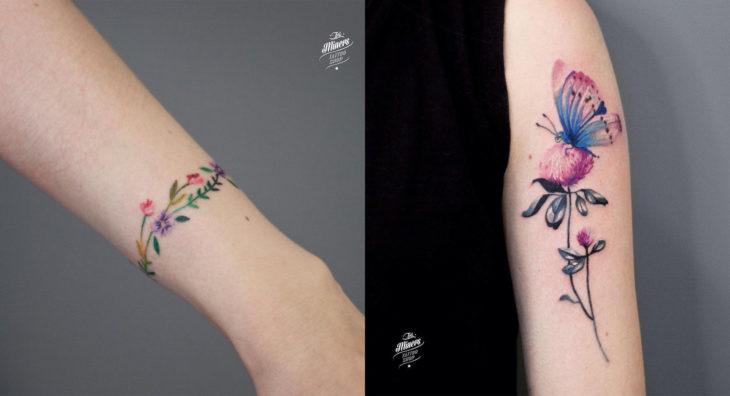 Artista del tatuaje que trabaja en Polonia