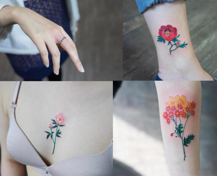 Artista del tatuaje Zihee Tattoo de Corea del sur