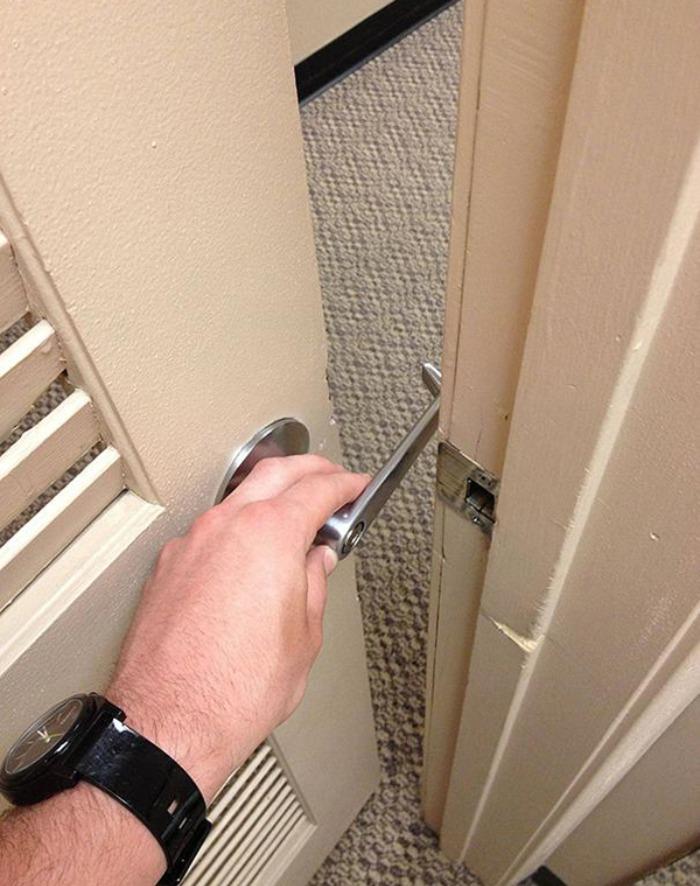 no se puede abrir la puerta