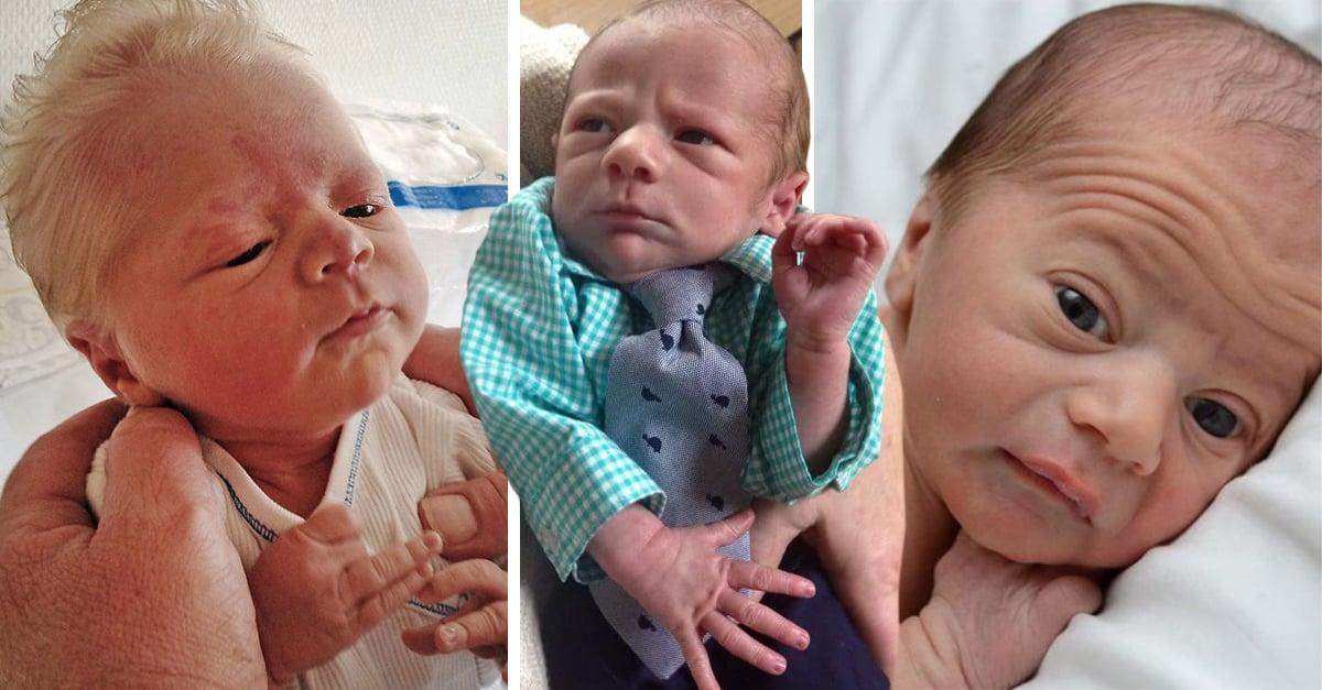 15 Adorables bebés que se ven más grandes que sus abuelos