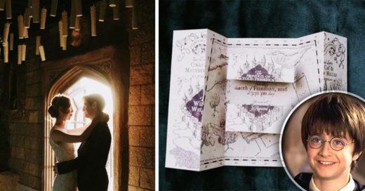 Esta boda inspirada en Harry Potter es TAN linda, que ni con un encantamiento desmemorizante podrás olvidar