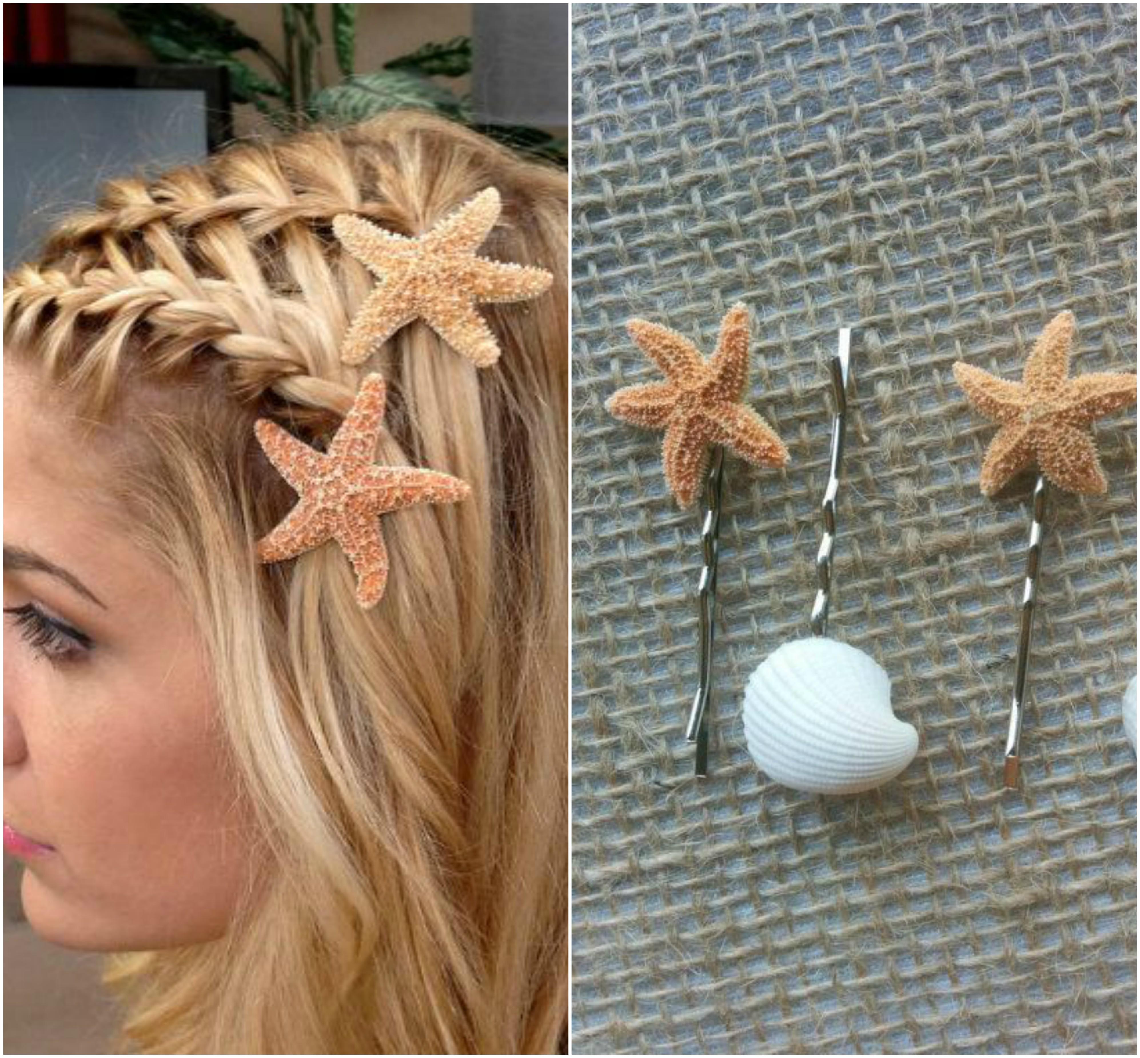 broches en forma de estrella de mar