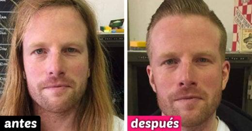 20 Hombres que cambiaron de look tan drásticamente que te dejarán con la boca abierta