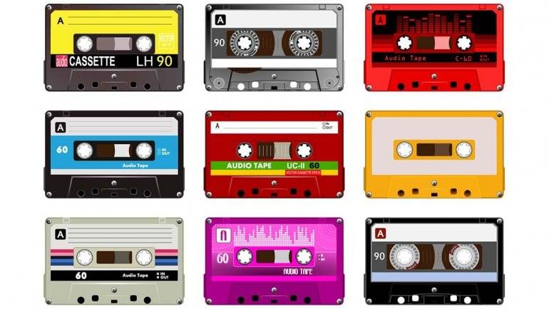 cassettes de los años 90's