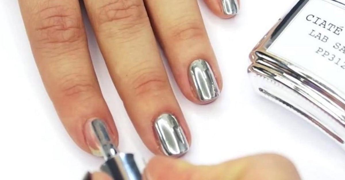 Conoce la tendencia de uñas cromadas o uñas de espejo