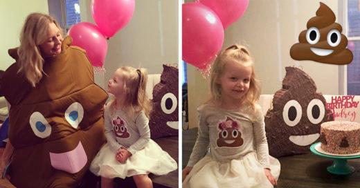 Pequeña pidió fiesta de cumpleaños inspirada en el emoji de caquita; ¡el resultado fue adorable!