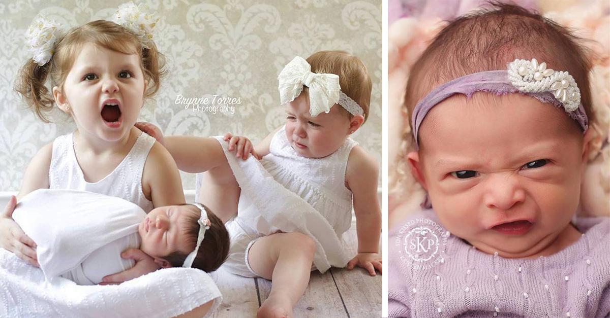 20 Adorables sesiones fotográficas de bebés que te harán el día