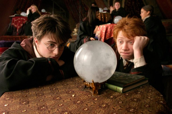 harry y ron adivinando el futuro
