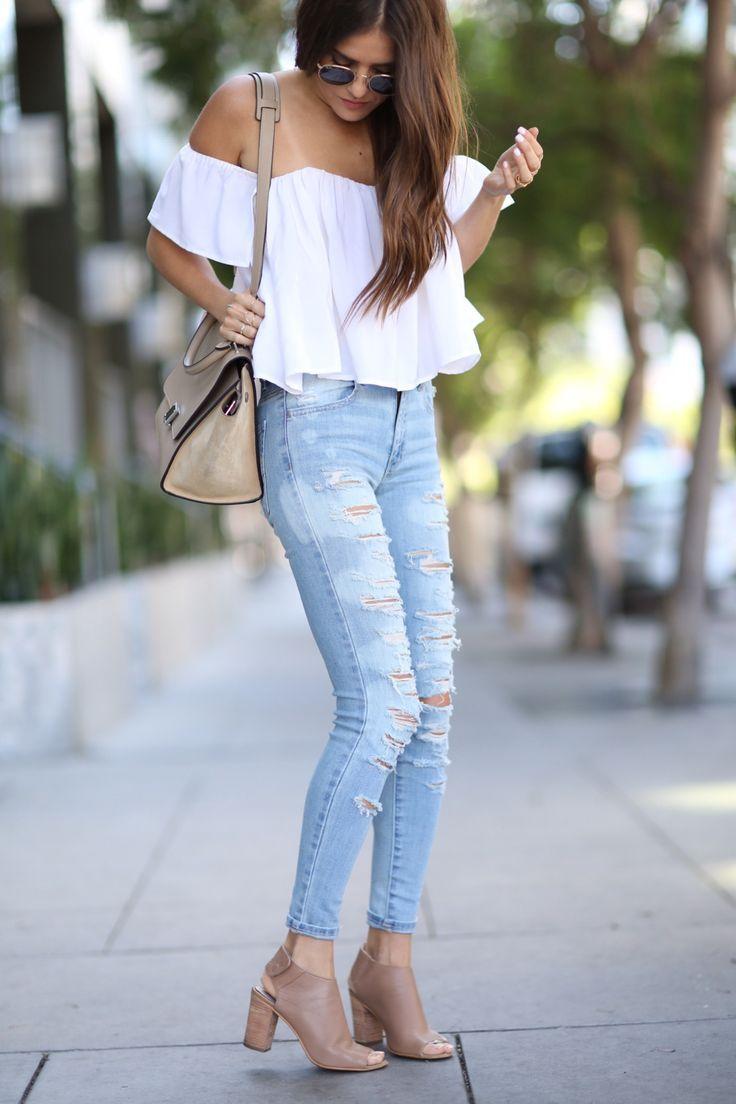 Outfits bonitos con tenis blancos - Kimi Fashion