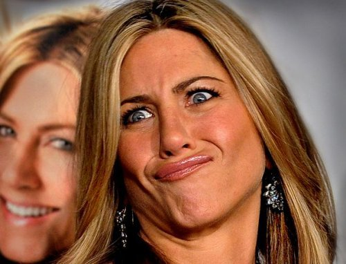 jennifer aniston cara chistosa