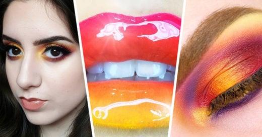 20 Increíbles imágenes con la nueva tendencia de maquillaje: los colores del atardecer