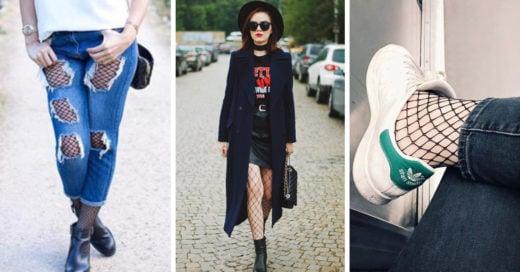 10 outfits para perderle el miedo a las medias de redes