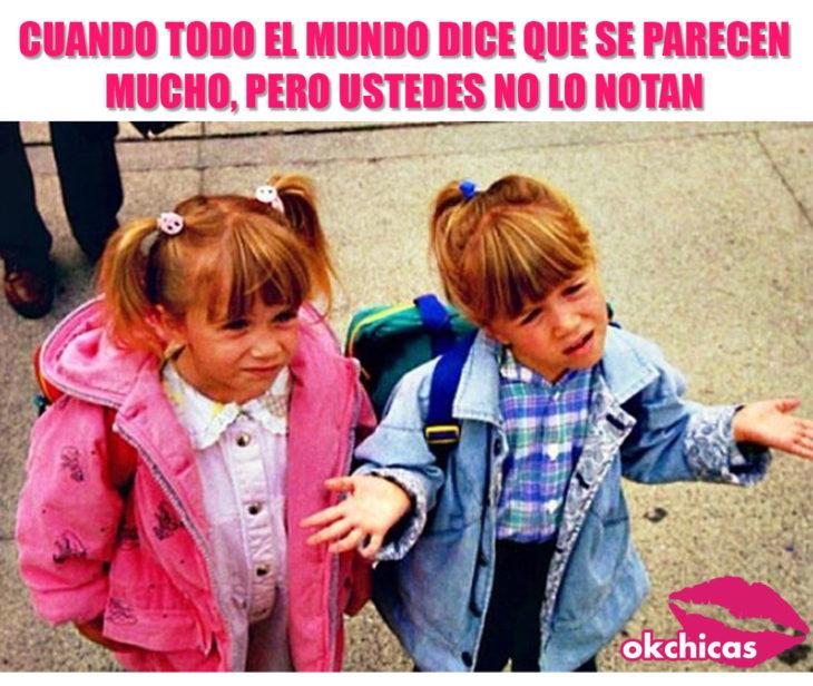 Meme okchicas hermanas