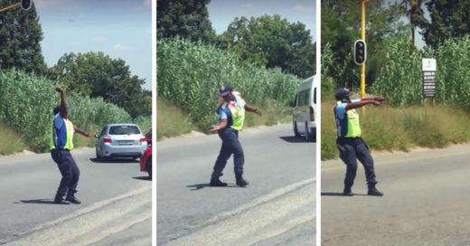 Esta mujer puso a bailar a todos durante el traficó; y el resultado es increíble