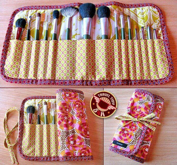 Bolsa para guardar las brochas de maquillaje