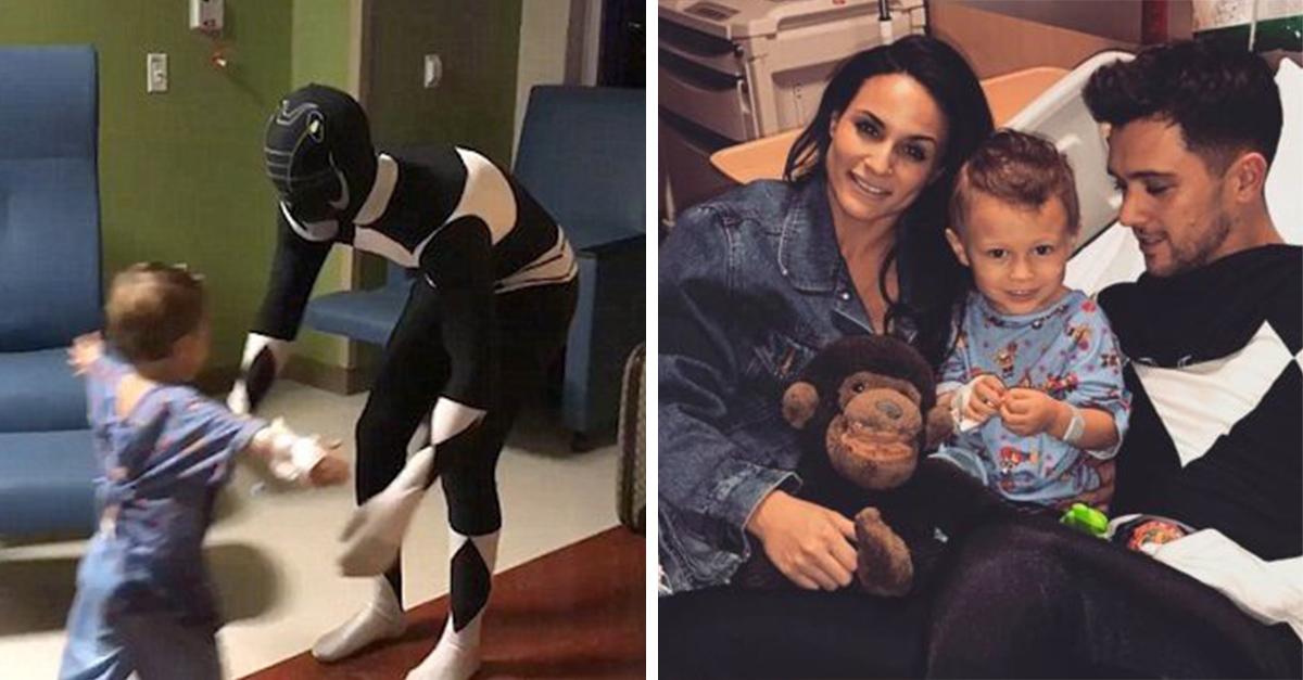 Un pequeño de 3 años recibe 2 visitas sorpresa mientras está en el hospital