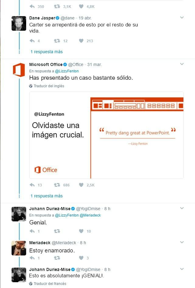 respuesta a chica powerponit editada español